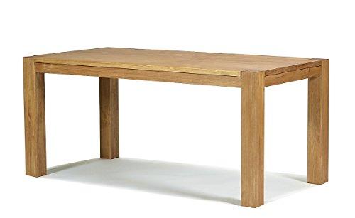 Naturholzmöbel Seidel Esstisch Rio Bonito 160x80 cm, Pinie Massivholz, geölt und gewachst, Holz Tisch für Esszimmer, Wohnzimmer Küche, Farbton Honig hell, Optional: passende Bänke und Ansteckplatten