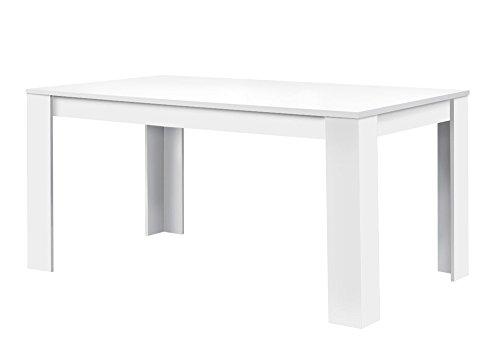 agionda ® Esstisch Toledo in Weiss 120 x 80 cm mit kratzfester Melaminharz Beschichtung
