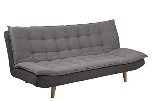 AC Design Furniture 63264 Bettcouch, Stoff, grau, 110 x 195 x 91.5 cm