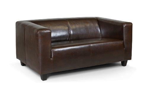 B-famous 2-Sitzer Sofa Kuba 149 x 88 cm, Glanzleder, braun