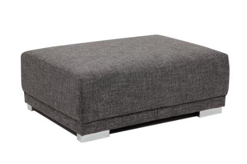 B-famous Big Sofa London-L Struktur grau, 217x103 cm,