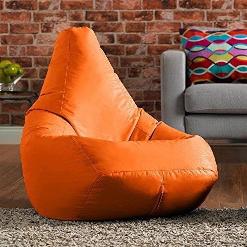 Bean Bag Bazaar® Außen Sitzsack mit Hohem Rückenteil Gamer - Groß, 118cm x 70cm - 100% Wasser Abweisend