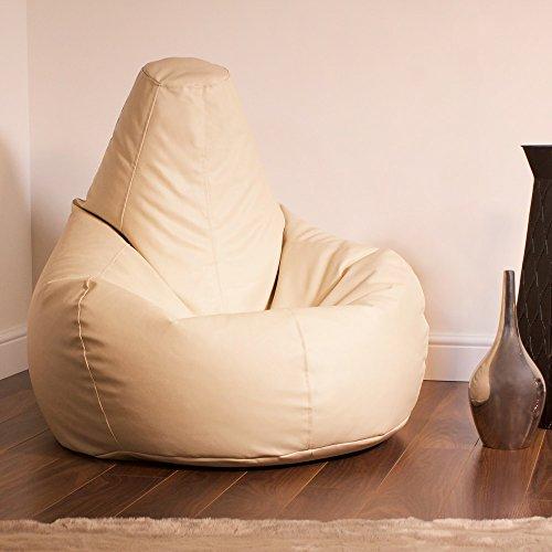 Bean Bag Bazaar® Gaming Sitz Sack Designer Liegesessel Lederimitat - Extra Large Sitzsack Sessel