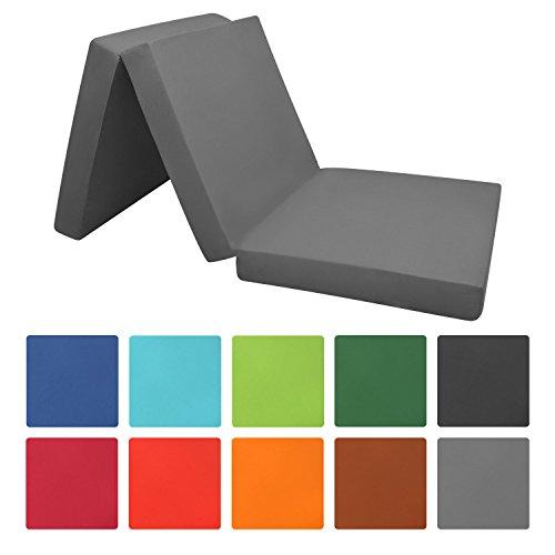 Beautissu Klappmatratze Campix 120x195x7 cm cm - klappbares Notbett Faltmatratze & Gäste-Matratze Faltbar und in Vielen Modernen Farben erhältlich