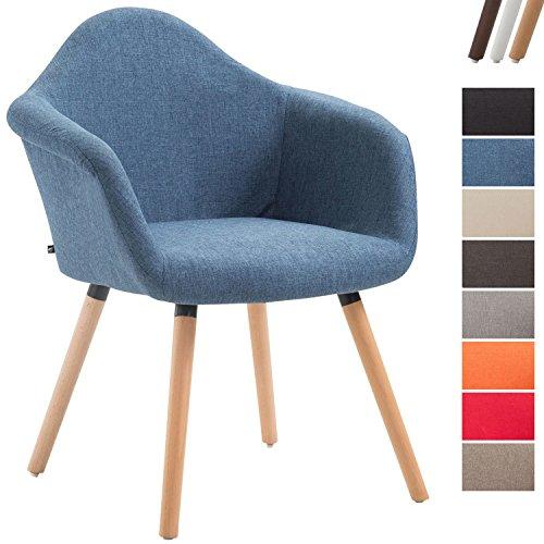 CLP Esszimmerstuhl Tito mit Hochwertiger Polsterung und Stoffbezug I Sessel mit Robustem Holzgestell aus Buchenholz I in Verschiedenen Farben erhältlich
