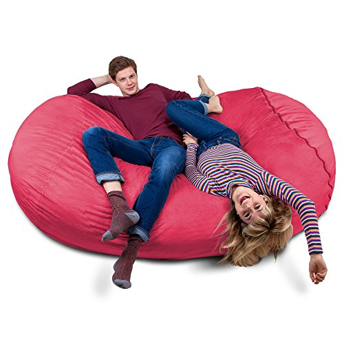 Charlie & Finn Riesiger Giga Sitzsack mit Memory Schaumstoff Füllung und Waschbarem Velour Bezug - Gemütliches Sofa, Riesen Bett, Kuschelige Liege, Bean Bag für Kinder, Teenager und Erwachsene
