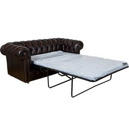 Chesterfield Leder Schlafsofa UK