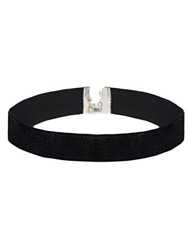 Choker schwarz Samt Halsband silber Kropfband Bandkette Samtband Collier Halskette ethno Damen ImiLoa