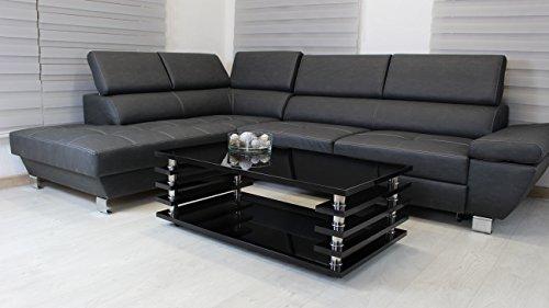 Couchtisch schwarz 115x65cm Wohnzimmer Tisch LACK Beistelltisch Hochglanz