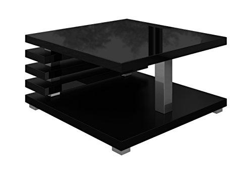 Couchtische Wohnzimmertische Beistelltisch Tisch Oslo 60 x 60 cm Schwarz Hochglanz