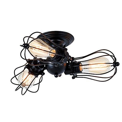 Deckenleuchte Vintage Verstellbar Metall Lampen Rustikal Deckenleuchte Antik für Landhaus Schlafzimmer Wohnzimmer Esstisch