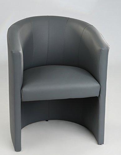 Design Cocktailsessel Sessel Clubsessel Loungesessel Club Möbel Bürosessel Praxismöbel grau Neu