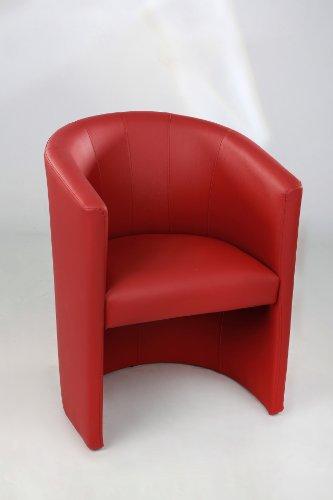 Design Cocktailsessel Sessel Clubsessel Loungesessel Club Möbel Bürosessel Praxismöbel rot