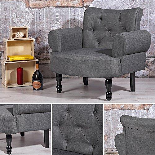 Design Esszimmer Polstersessel Grau Barock Stil Textilsessel Sitzmöbel Armsessel