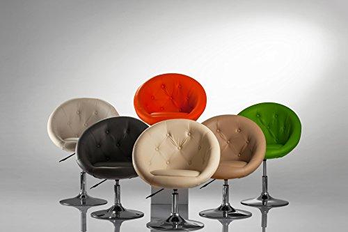 Duhome Elegant Lifestyle Sessel Farbenvielfalt höhenverstellbar Kunstleder Clubsessel Coctailsessel Loungesessel - Typ 509A