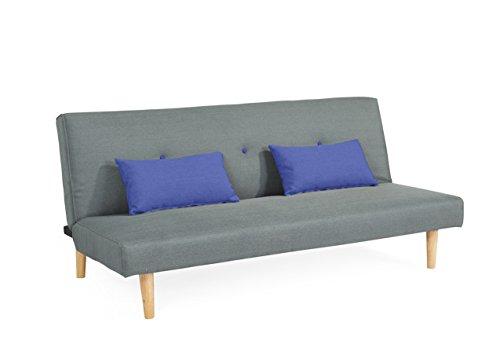 EBS My Furniture Schlafsofa Couch Sofabett mit 2 Kissen 3 Sitzer Sofa Klappsofa