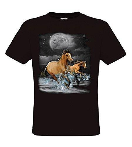 Ethno Designs Horse Wilderness - Pferde T-Shirt für Kinder und Erwachsene - Tiermotiv Shirt Ethno Designs Wildlife