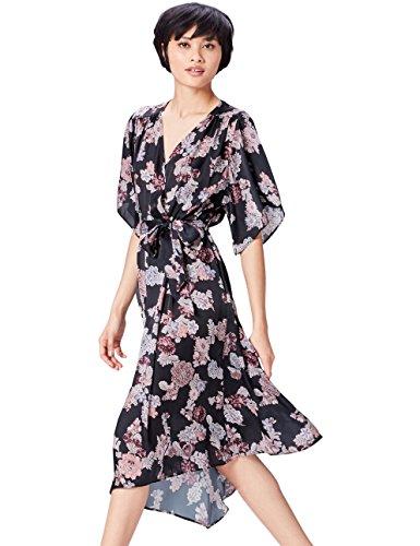 FIND Damen Kimono-Kleid mit Blumenmuster