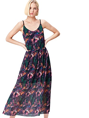 FIND Damen Maxikleid aus Chiffon
