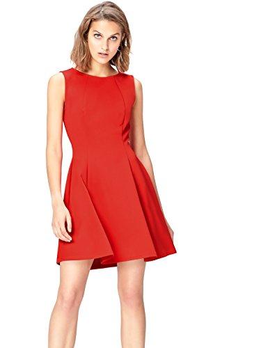 FIND Damen Midi A-Linien-Kleid