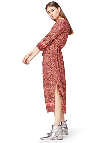 FIND Damen Midi-Boho-Kleid