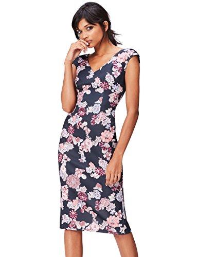FIND Damen Midi-Schlauchkleid mit Blumenmuster