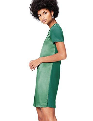 FIND Kleid Damen T-Shirt-Design und mattglänzende Front