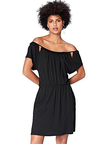 FIND Kleid Damen Tailliert mit schulterfreiem Carmen-Design