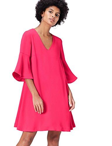 FIND Kleid Damen mit A-Linien-Form und Trompetenärmeln