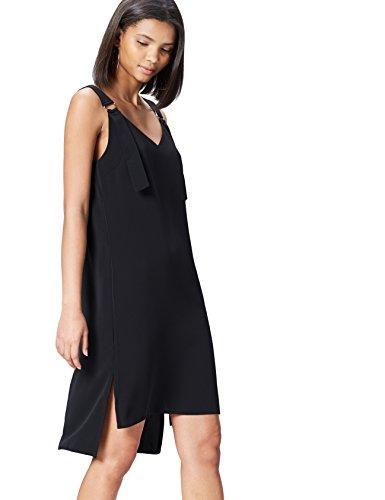 FIND Kleid Damen mit Breiten Trägern und V-Ausschnitt