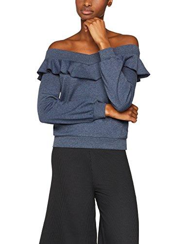 FIND Sweatshirt Damen mit Carmen-Schnitt und Rüschen
