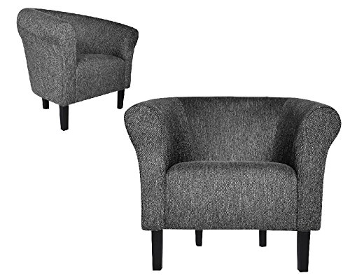 "FORTISLINE Clubsessel Loungesessel Cocktailsessel MONACO 2"" FASHION Hellgrau W364 17"