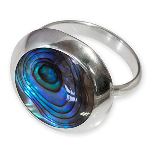 Fly Style Damen-Finger-Ring (Abalone Pauamuschel) echt Silber 925 risi068_paua