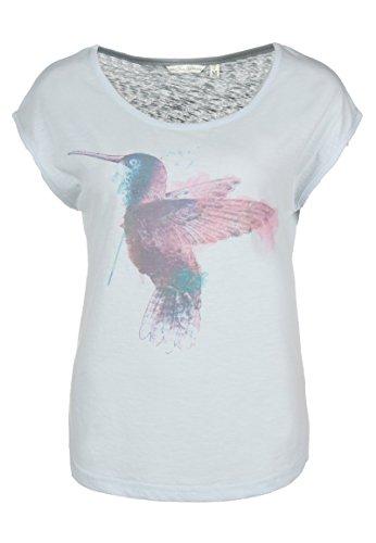 Fresh Made Kolibri Shirt | Damen T-Shirt mit Print im Vintage Style I Frauen Sommer Top Kurzarm mit Rundhals-Ausschnitt