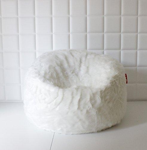 Große Lush & Soft weiß Fox Sitzsack Kunstfell Cloud Sitzsack-Bezug, Pouf, Bean Bag Cover 140 cm x 80 cm