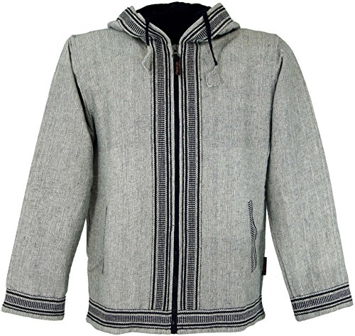 Guru-Shop Goa Jacke, Ethno Kapuzen Jacke, Herren, Baumwolle, Jacken, Ponchos Alternative Bekleidung