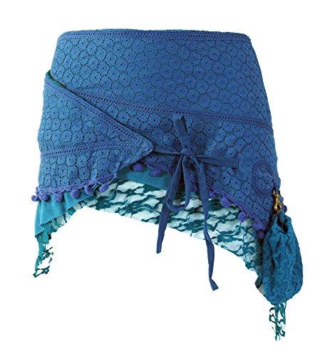 Guru-Shop Goa Minirock, Wickelrock, Cacheur, Damen, Baumwolle, Cacheure, Hüftschmeichler Alternative Bekleidung