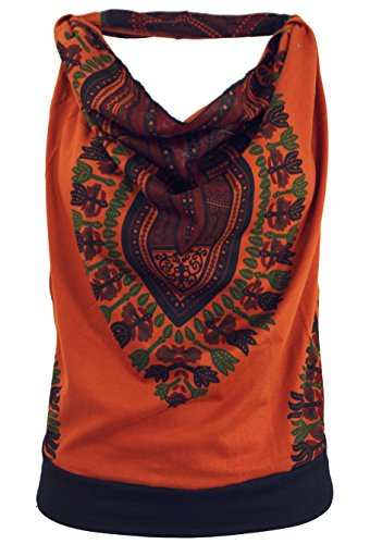 Guru-Shop Goa Top, Dashiki Psytrance Neckholder Top, Damen, Synthetisch, Tops, T-Shirts, Shirts Alternative Bekleidung