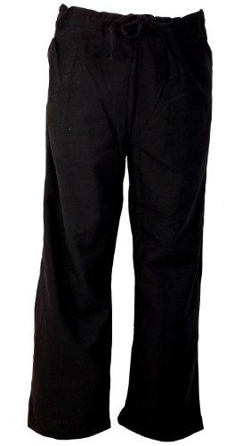 Guru-Shop Leichte Yogahose, Thai Chi Hose, Goa Hose, Freizeithose, Herren, Schwarz, Baumwolle, Size:52, Männerhosen Alternative Bekleidung