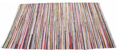 Homescapes Chindi Flickenteppich aus 100% Recycelter Baumwolle