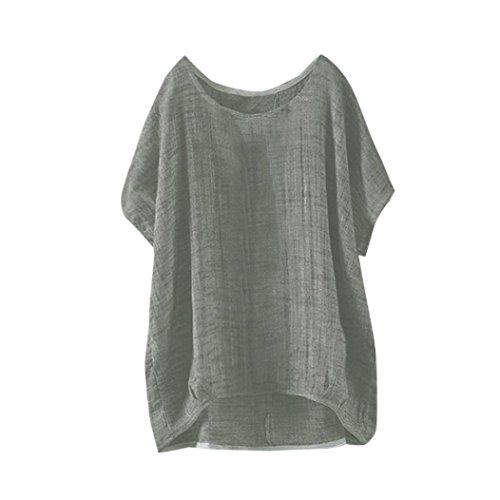 IMJONO T-Shirt Womens Fledermaus Kurzarm beiläufige Lose Top Dünnschnitt Bluse Pullover