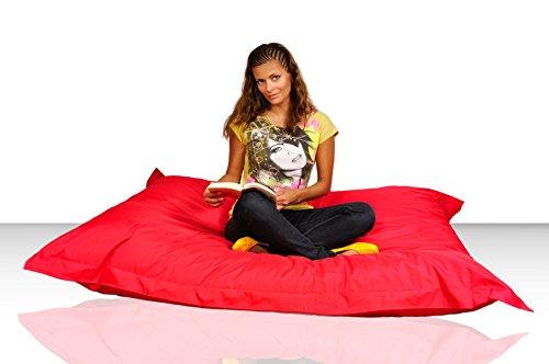 Kinzler S-XXL Riesensitzsack, 140x180 cm, Sitzsack Outdoor Indoor, in Vielen Verschiedenen Farben, mit Innensack