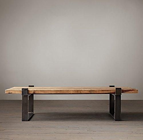 Lzz Einfache Moderne Massivholz Couchtisch Vintage Retro Eisen Esstisch American Persönlichkeit Kreative Industrielle Stil Couchtisch