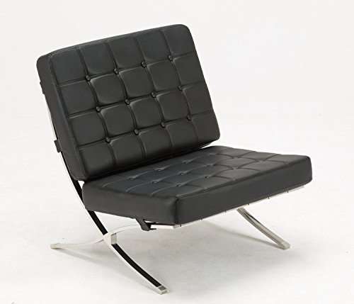 mcombo loungesessel relaxsessel cocktailsessel modern lounge stuhl pu leder edelstahl boho style. Black Bedroom Furniture Sets. Home Design Ideas