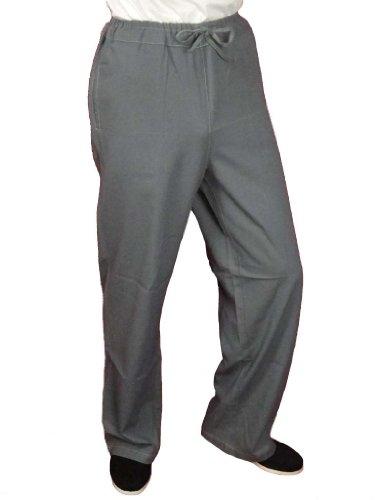 Maßgeschneiderte Graue Tai Chi Hosen Handgefertigt aus Premium Leinen #102