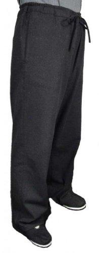 Maßgeschneiderte Schwarze Tai Chi Hosen Handgefertigt aus Premium Leinen #101