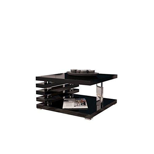 Mirjan24   Couchtisch Kyoto, Kaffeetisch, Sofatisch 60x60 cm, Wohnzimmertisch, Couchtisch, Modern Stilvoll, Hochglanz, Matt