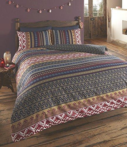 Orkney Doppelseitiger Druck Quilt Bettbezug Bettwäsche-Set blau