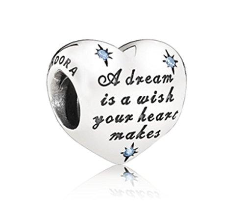 Pandora Disney-Charm Cinderella' s Dream mit blauem Cubic Zirkonia 791593CFL