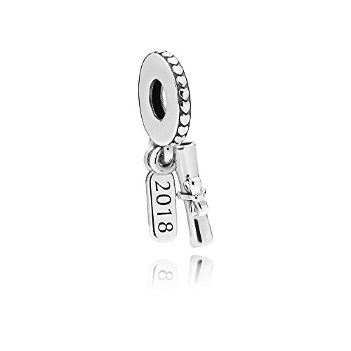 Pandora Moments Graduation Scroll Damen Charm Anhänger 925 Sterlingsilber